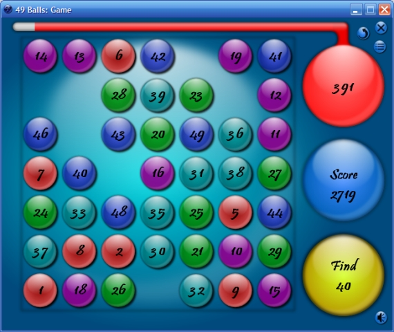 Click to view 49 Balls 1.4 screenshot