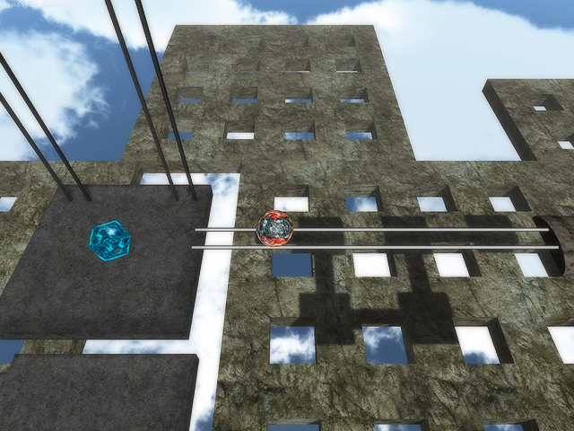 Acrophobia ball is a 3D arcade game where you dangle over the precipice...