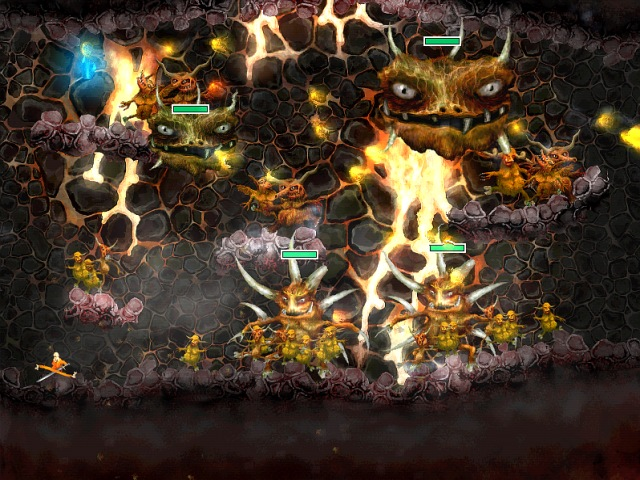 Exquisite, lively platform game with excellent graphics, a variety of special effects and realistic animation. The brave hero must defend his castle from the onslaught of ugly demons, and descend into hell itself to stop them.