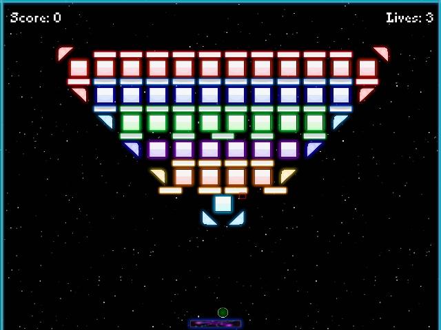 Neon Arkanoid Space screenshot