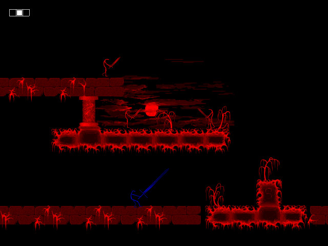 Platform Game - Puzzle, in a magnificent red hue.