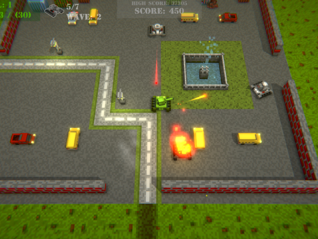 Voxel Tanks Survival